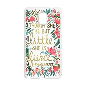 Samsung Galaxy Note 4 Cell Phone Case White Little & Fierce Spon