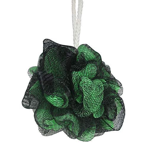 1 Pcs Bath Sponge Shower Rich Bubbles Loofahs Brush Body Wash Scrubber Mesh Soft Puff (Dark Green)