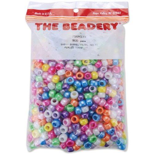 Pony Beads 6x9mm, 900/Pkg: Pearl Multi