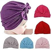 Ademoo Newborn Girls Nursery Beanie Rabbit Ears Hospital Hat (Rabbit Ears 6 Colors)