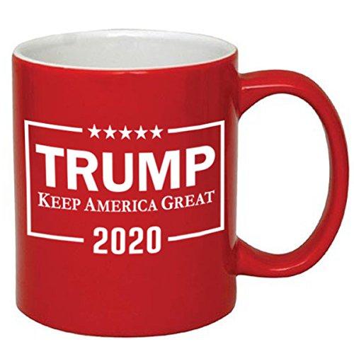 Make Ceramic Mug - P&B Donald Trump, Make America Great Again Ceramic Coffee Mugs (11 oz, Red/Trump_2)