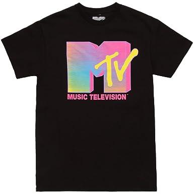 da2976f41 Amazon.com: Fifth Sun MTV Fluorescent Logo Adult T-Shirt: Clothing