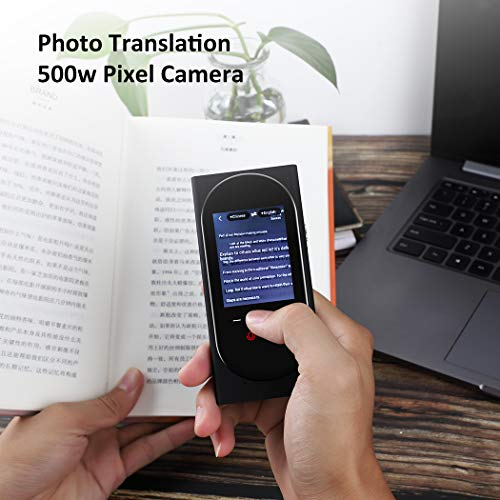 DUTERID Voice Translator Device with Camera Translation Function,Support 106 Language,Portable Two-Way Voice Interpreter for Traveling Learning Chatting Business (Black)