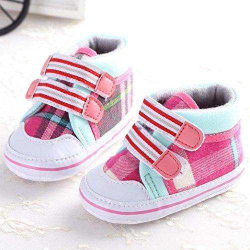 Saingace Krabbelschuhe,Kleinkind Mädchen Krippe Schuhe Neugeborene Blume Soft Sohle Anti-Rutsch Baby Sneakers