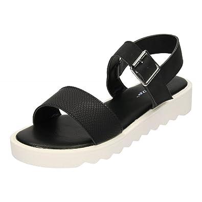 03da47b715b6 Ladies Dunlop Low Wedge Multi Platform Summer Slip On Peep Toe Flip Flops  Sandals Mules Shoes