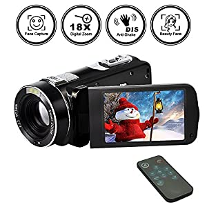 Camcorder Camera Full HD 1080p 24.0MP Digital Video Webcam Recorder 16x Digital Zoom 3 Inch Screen HDMI Output With Remote Control … from Gongpon