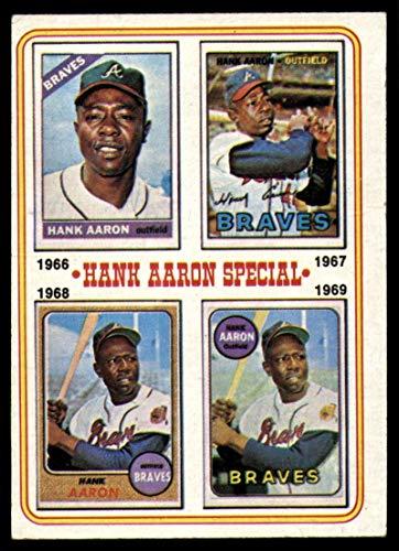 Baseball MLB 1974 Topps #5 Hank Aaron 1966-69 EX Excellent Braves
