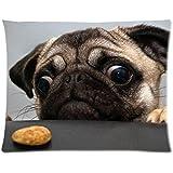 Pug Dog Custom Pillowcase Standard Size 20x26 CP-602