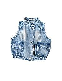 Mornyray Toddler Boy Girl Denim Vest Jacket Outerwear Fashion Sleeveless Coat