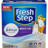 Fresh Step Multi-Cat with Febreze Freshness, Clumping Cat Litter, Scented (25 Pounds - Pack 3)