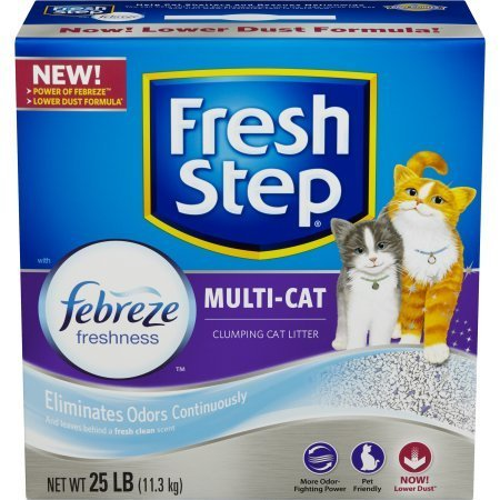 Image of Fresh Step Multi-Cat with Febreze Freshness, Clumping Cat Litter, Scented (25 Pounds - Pack 1)