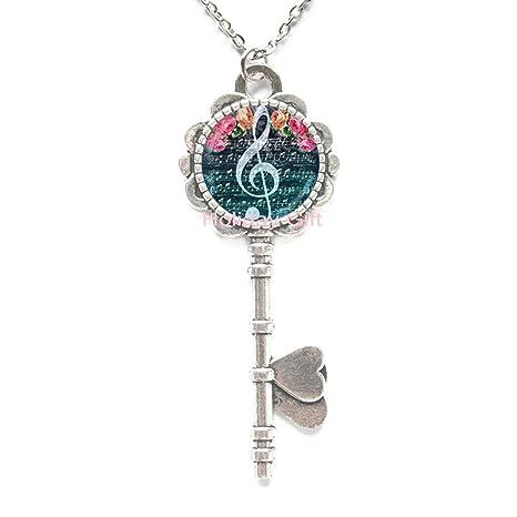 Amazon.com: Collar de llavero de moda con diseño de llave de ...