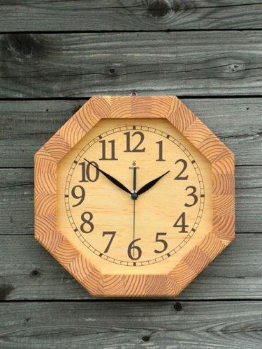 「キコリの時計」 木の振子時計 【八角時計】 B00BO0PZ5U