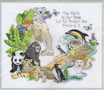 The Earth Is Our Home - Counted Cross Stitch Kit #3700