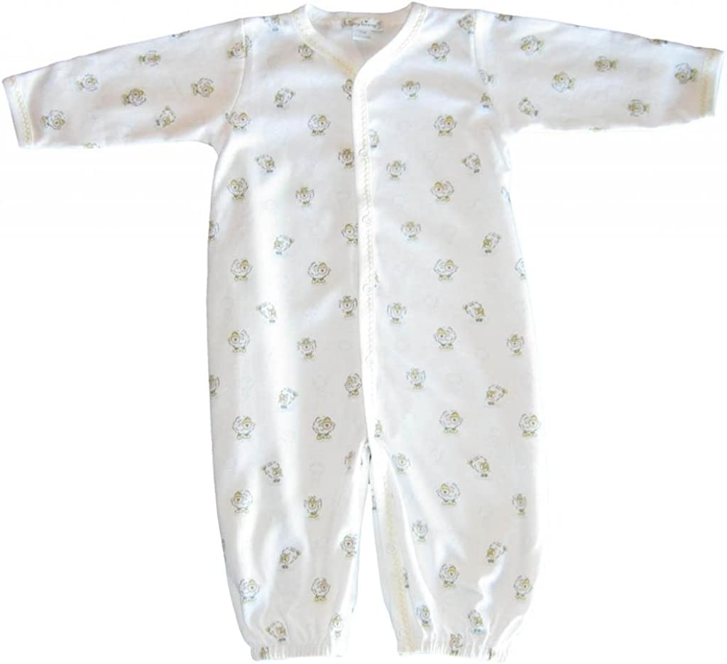 Kissy Kissy Unisex-Baby Infant Giggles and Galoshes Print Convertible Gown-White With Yellow-Preemie