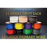 18 GAUGE WIRE ENNIS ELECTRONICS 100 FT SPOOLS PRIMARY REMOTE HOOK UP AWG COPPER CLAD 11 ROLLS