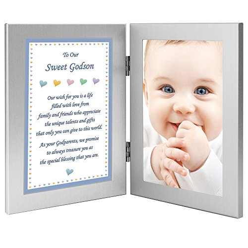 Godson Birthday, Christmas Or Baptism Gift from Godparents, Add Photo by Poetry Gifts