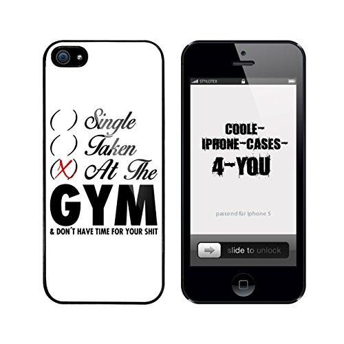 Iphone 5 / 5S Schutzhülle Single Taken At The Gym - schwarzer Rahmen