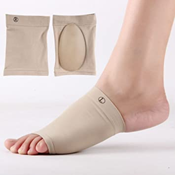 b0bcb2ee58 Foot Arch Support Elastic Bandage Soft Silicone Flat Feet Orthotic Plantar  Fasciitis Arch Support Sleeve Gel