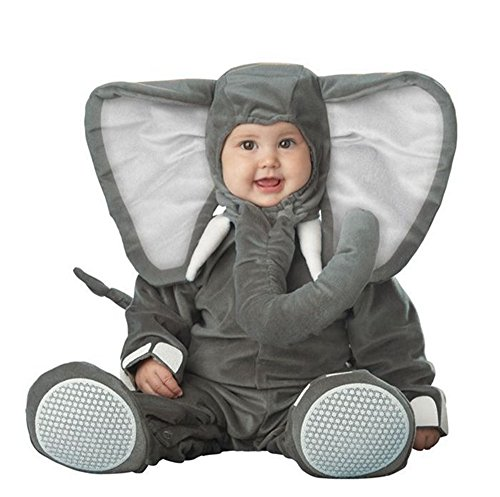 Toddler Baby Gray Elephant Animal With Trunk Outfit Christmas Costume ()