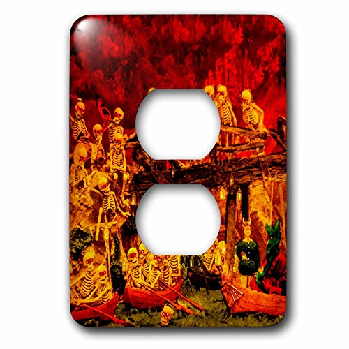 3dRose lsp_240554_6 Morbid Death Satanville Hell Skeleton Stereoview 1800S Vintage Demons Plug Outlet Cover, Mixed