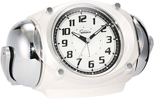 세이코 clock 자명종 아날로그 대음량 벨음 PYXIS 피쿠시스 RAIDEN 라이덴 흰색 펄 NR438W SEIKO