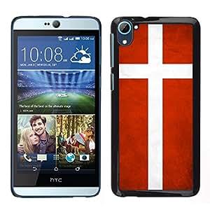 LECELL--Funda protectora / Cubierta / Piel For HTC Desire D826 -- Nacional bandera de la nación País Dinamarca --