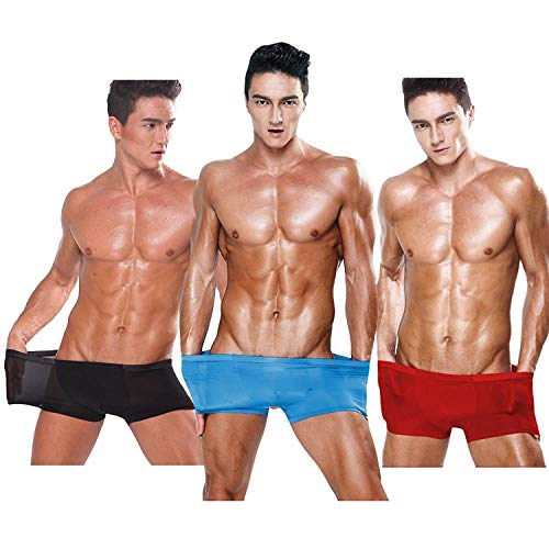 Rise Low Ragazzi 3colour4 Trunks Pantaloncini Under Uomo Solid Ice Semi Classiche Rosso Super Cool Basic Sheer Shorts Warm Da Breathable Color n1RRI8H