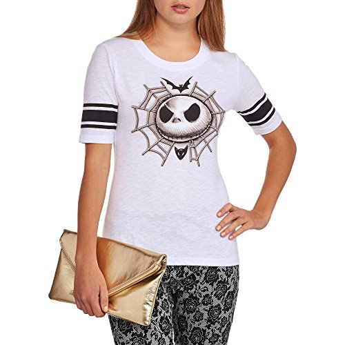 Disney Juniors' The Nightmare Before Christmas Jack Skellington Hockey Tee (XL) (Sally From The Nightmare Before Christmas Costume)