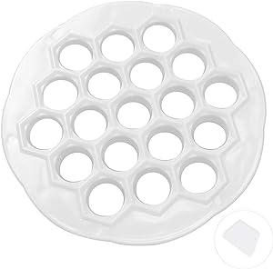 Russian Pelmeni Maker Dumplings Maker Dumpling Press Mold Ravioli Maker Food Grade Plastic Dumpling Mold Safety 19 Holes Made 19 Pelmeni At One Time With A Scraper Panel 8.1 x 0.8 Inch