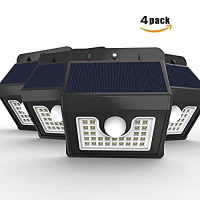 Vivii Solar lights, Bright LED Security Lighting Outdoor Motion Sensor Solar Spotlight flood Lighting for Garden, Patio, Fencing, and Pathway