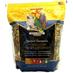SUNSEED Vita Prima Sunscription Parrot Food, High-Variety Formula - 4 LBS Size