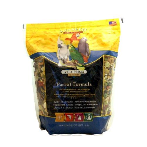 SUNSEED Vita Prima Sunscription Parrot Food, High-Variety Formula - 4 LBS Size -