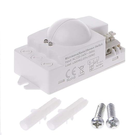 Zuanty - Sensor de radares de microondas (AC220-240 V, 3800 para ...