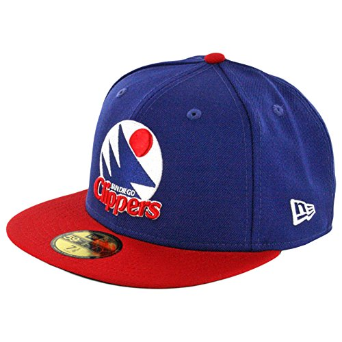 (New Era 59Fifty San Diego Clippers HWC Fitted Hat (Royal Blue/White-Red) NBA Cap)