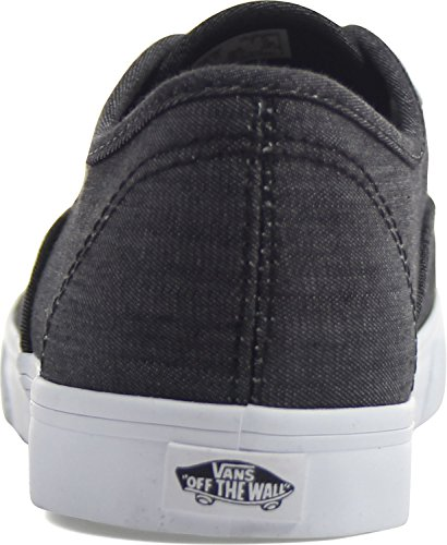 White Authentic True Stripe Black Shadow Vans X8RdqX