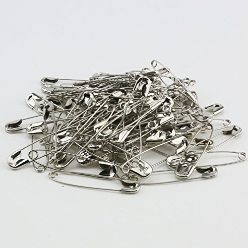 "Ogrmar 100PCS Heavy Duty 1-3/4"" Safety Pins Premium Sweing Tools Accessory for All Types of Fabrics and Clothing, Arts & Crafts Projects and Fishing (Silver)"