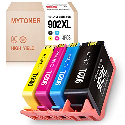 MT Remanufactured Ink Cartridge Replacement for HP 902XL 902 XL High Yield Upgraded for HP OfficeJet Pro 6968 6978 6958 6962 6960 6970 6979 6950 6954 6975 Printer(Black,Cyan,Magenta,Yellow, 4-Pack)