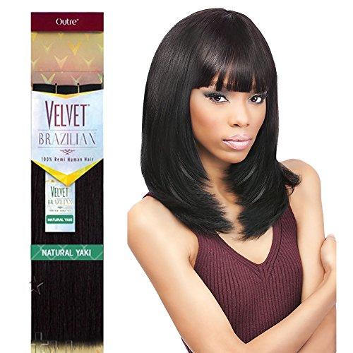 - Outre Remy Human Hair Weave Velvet Brazilian Natural Yaki (16