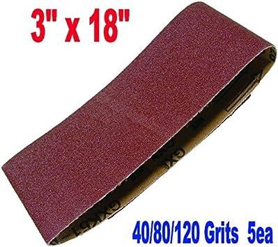 """5x 75x457mm 3/""""x18/"""" Sanding Belts Mixed Grits 60 80 100 120 240 Sander Power"""