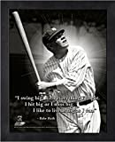 Babe Ruth New York Yankees ProQuotes Photo (Size: 9'' x 11'') Framed