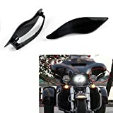 Areyourshop 2 x ABS Plastic Side Wings Air Deflectors For Harley Street Electra Glide 14-17
