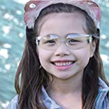 Kids safety glasses UV400 clear lens kid eye protection blue gift set for 3 to 10 years old children