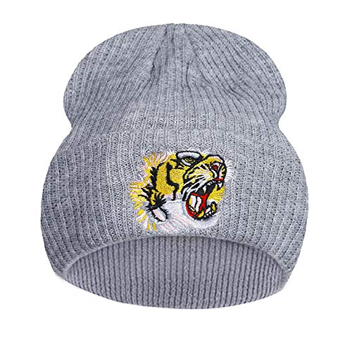 4ce9d2a64968 World 2 home Hip Hop Animal Caps Women Men Tiger Embroidery Autumn Winter  Fashion Skullies Beanies Outdoor Casual Sport Hats Female Cap  Amazon.in   Clothing ...