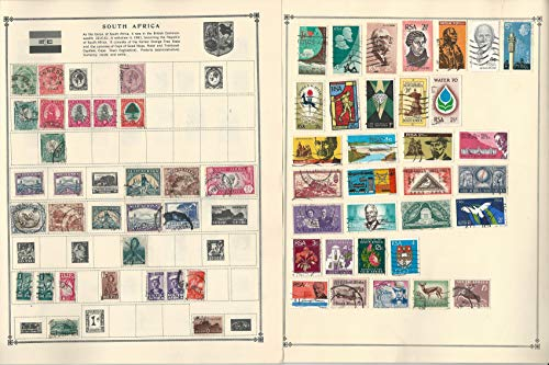 South Africa & West Stamp Collection on 10 Scott Album Pages To 1981
