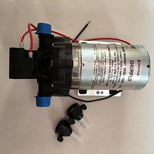 TPF Shurflo RV Water Pump with 2 Shurflo 1/2'' Swivel Fittings