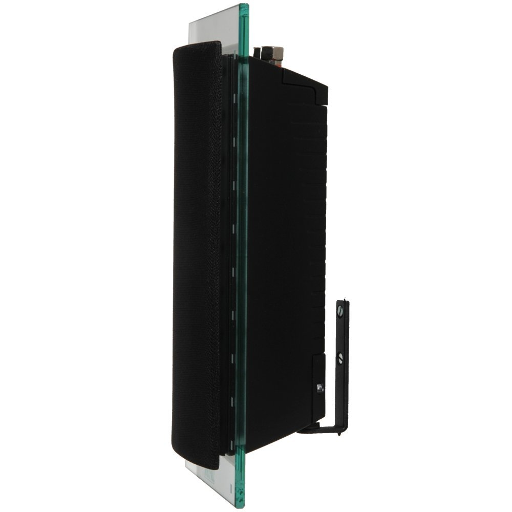 Waterfall Hurricane EVO Glass and Aluminum Speaker with Black Grill (Black, Single)
