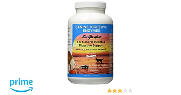 Dr. Goodpet Canine Digestive Enzymes Supplement for Dogs, Small
