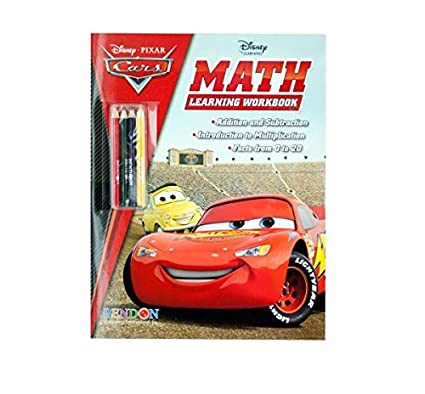 Disney Cars Math Learning Book With Pencils