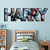 PERSONALIZED ANY NAME Marvel Super Heroes Decal WALL STICKER Marvel C843, Huge